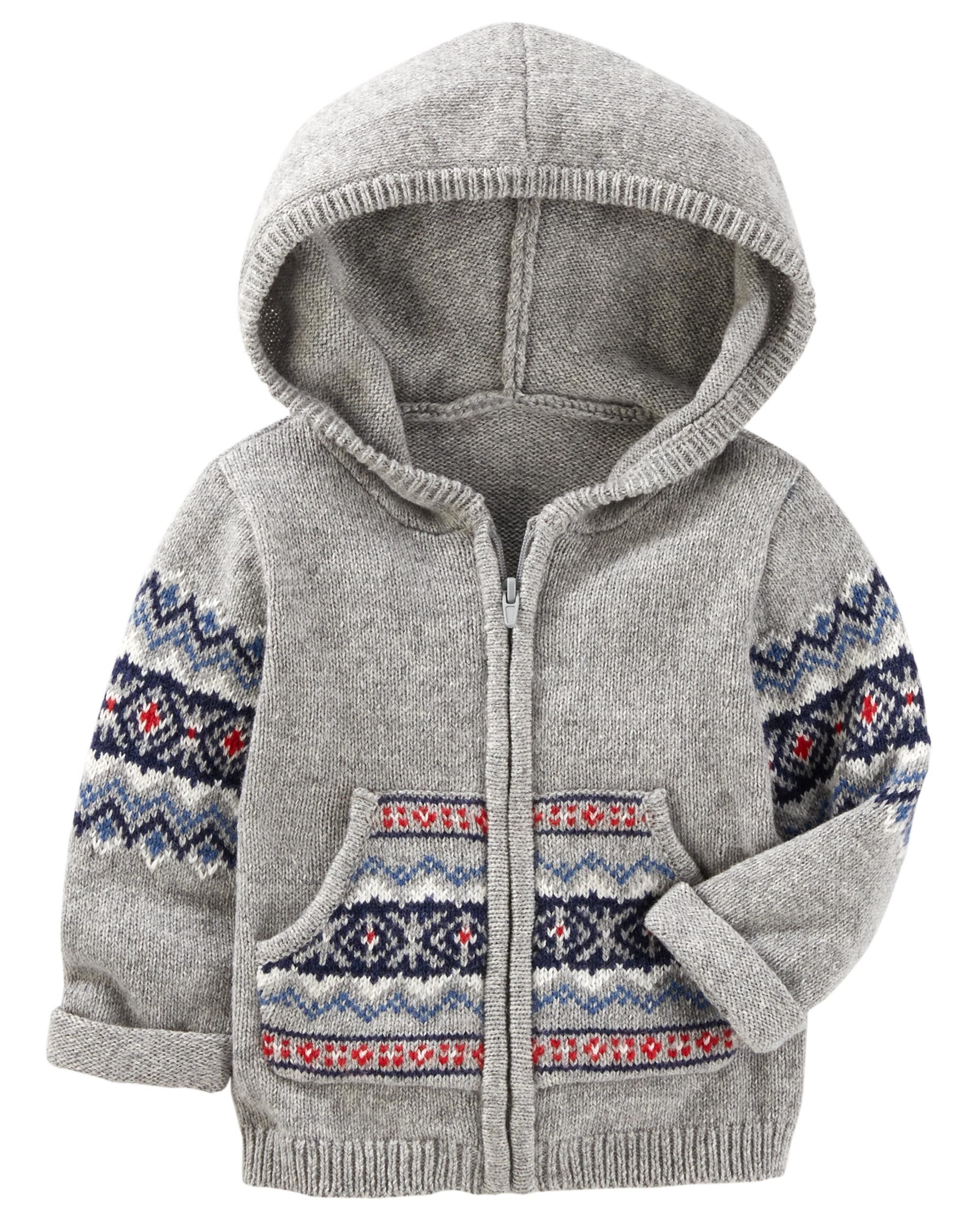 f3fb4045c Hooded Fair Isle Jacket