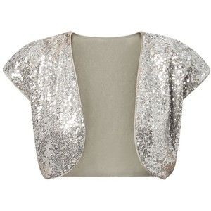 Mandi Silver Sequin Embellished Shrug | Bridesmaids | Pinterest ...