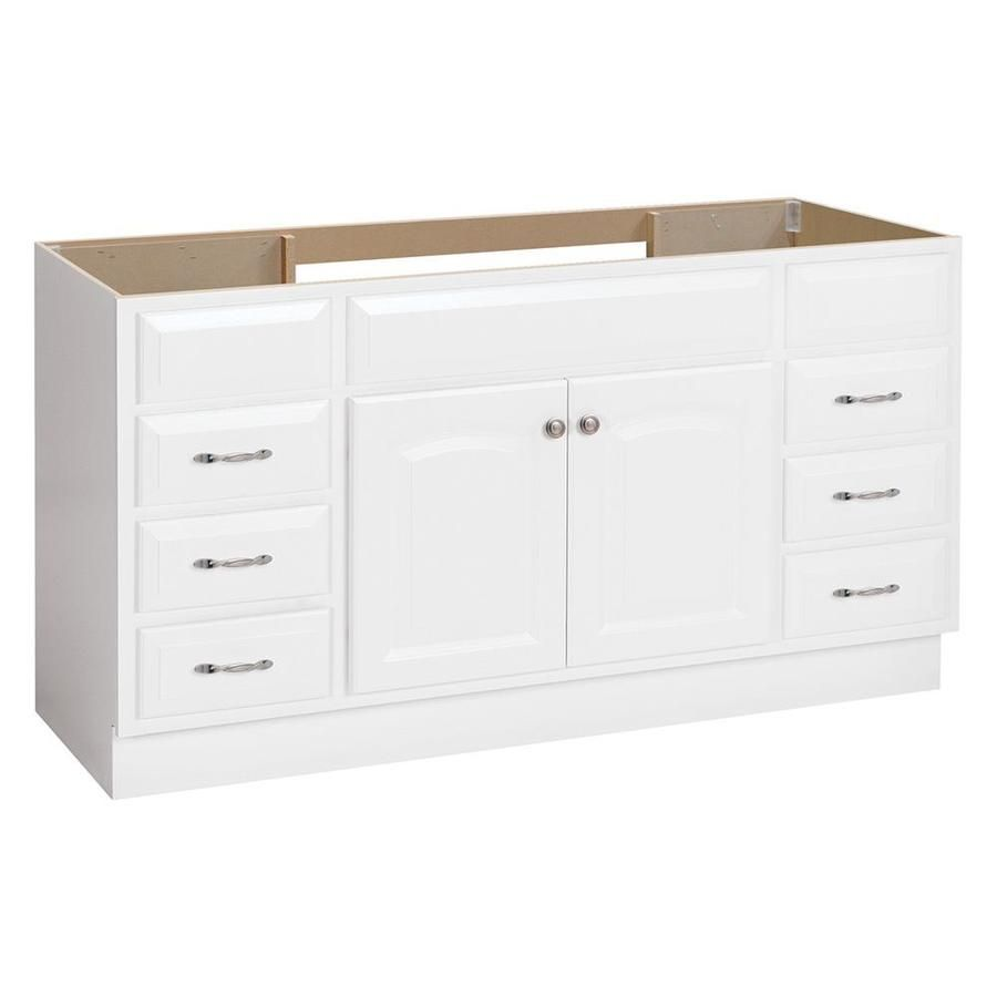 Best Project Source 60 In White Traditional Bathroom Vanity 400 x 300