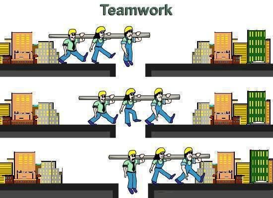 A good example of teamwork Life Teamwork, Team building