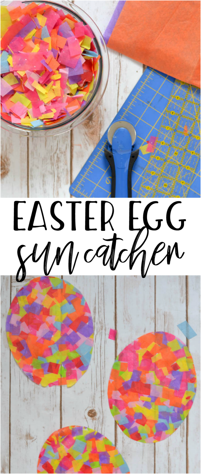 A Fun And Easy Craft For All Ages Tissue Paper Easter Egg Sun