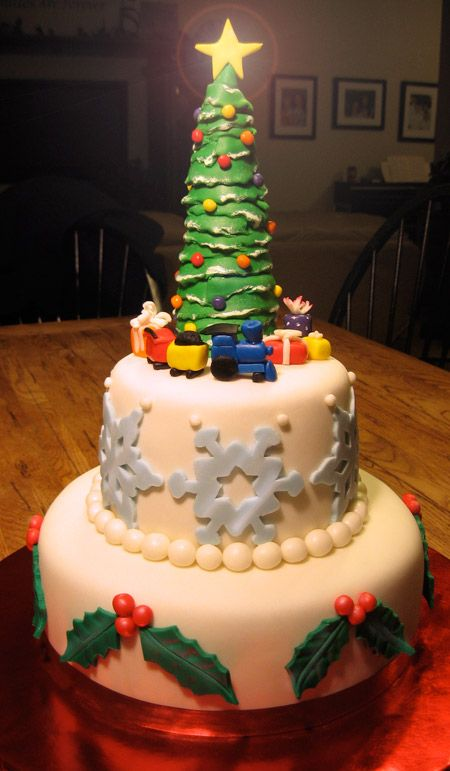 Fondant cake for Christmas