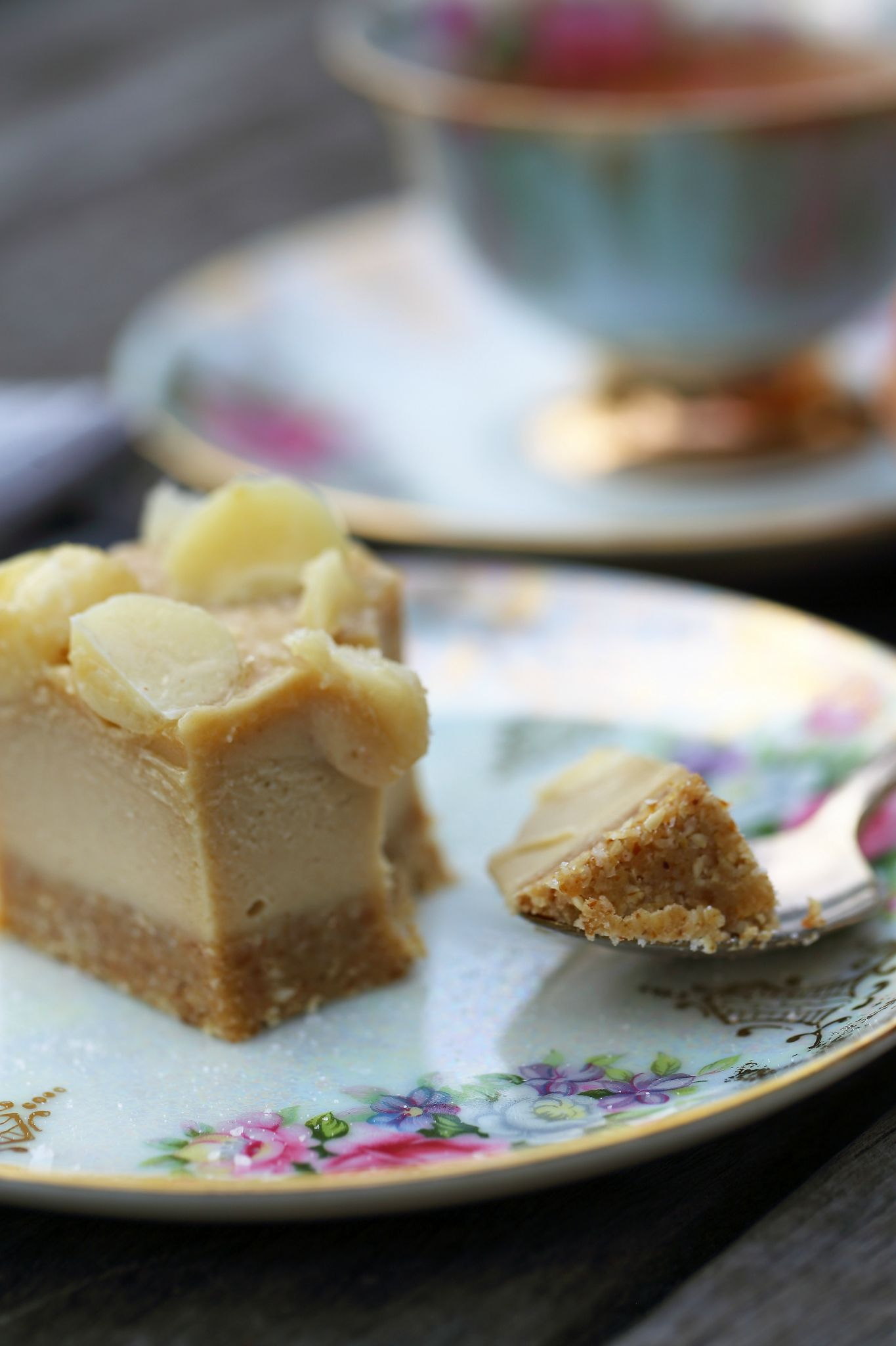 Salted caramel macadamia slice recipe caramel raw desserts and easy forumfinder Images