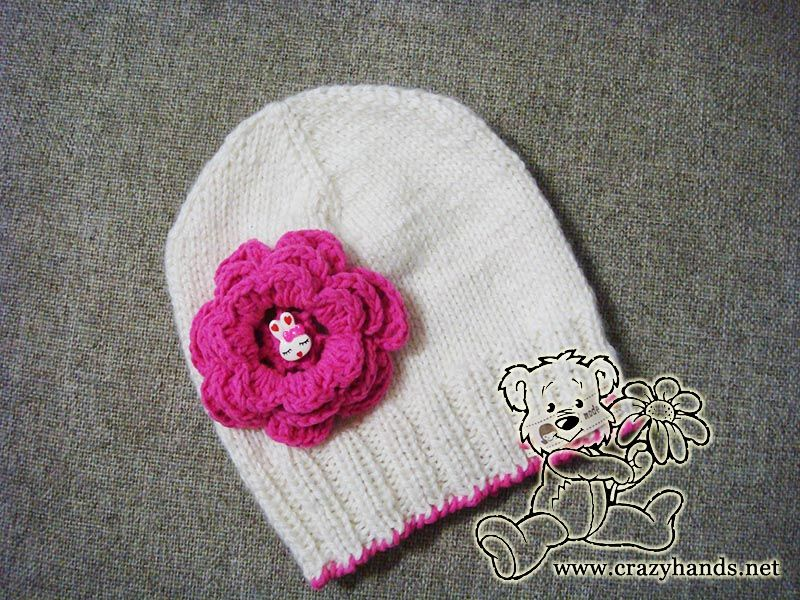 5 Double Pointed Knitting Spring Children Knitted Beanie - Needles ...