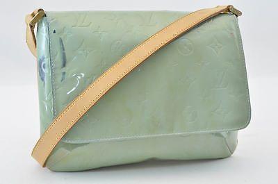 b8a769870b1d Auth Louis Vuitton Vernis Thompson Street Shoulder Bag Baby Blue  S4065 E