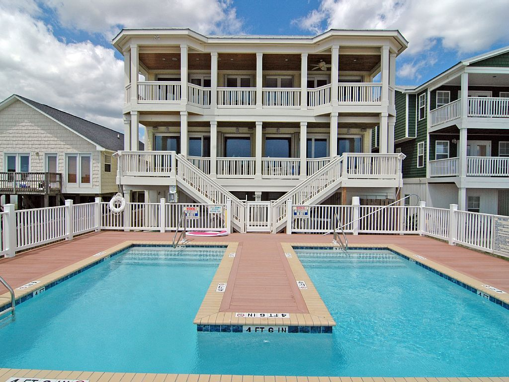 Perfect Me  Br Duplex Oceanfront Pool Beautiful Vacation Rental In Kure Beach From