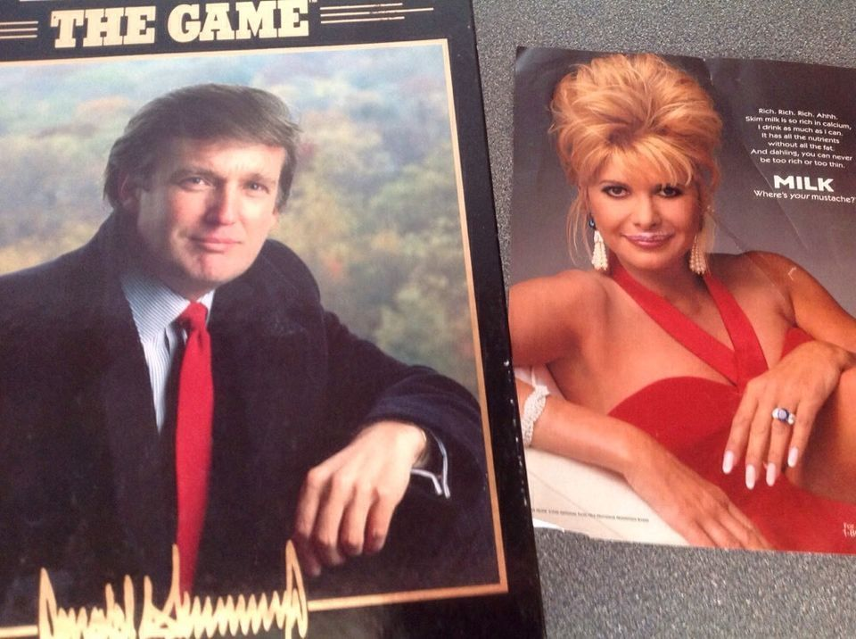 TRUMP The GAME 1989 by Milton Bradley Donald Trump Vintage - Used