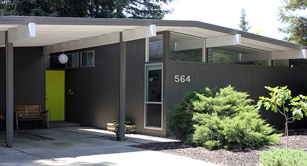 mid century modern homes - Mid Century Modern Home Exterior Paint Colors