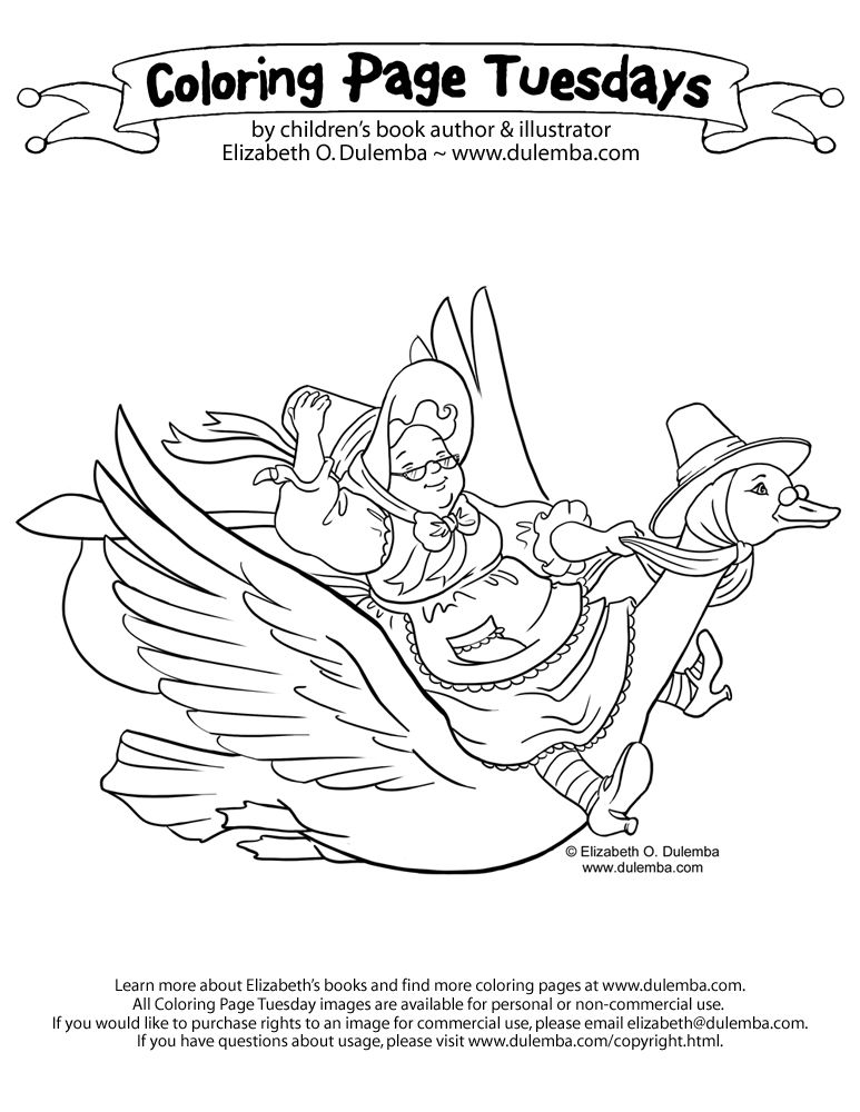 Coloring Page Tuesday Mother Goose Coloring Bookmarks
