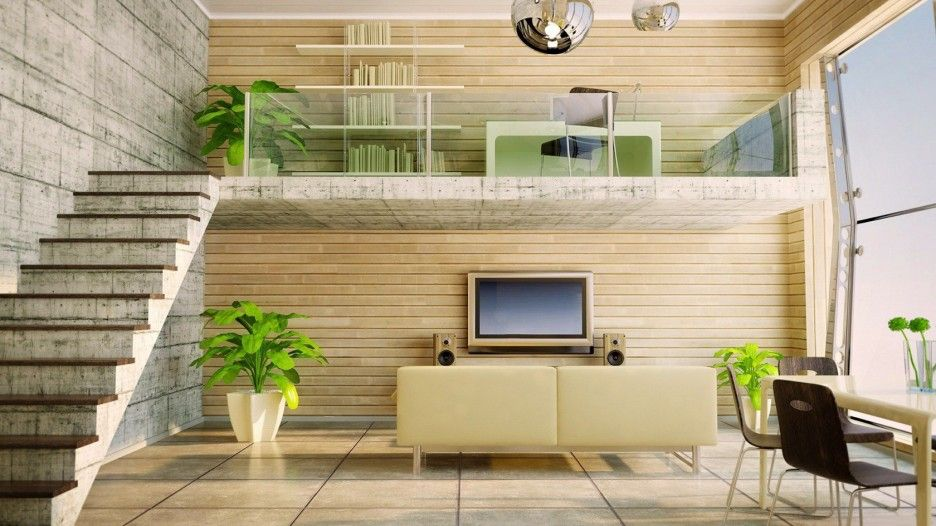 Mezzanine Designs home mezzanine design ideas modern-apartment-interior-living