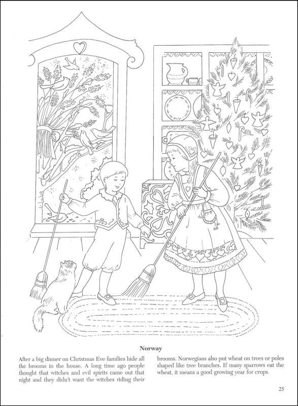 Vintage christmas coloring pages christmas around the world coloring book additional photo inside