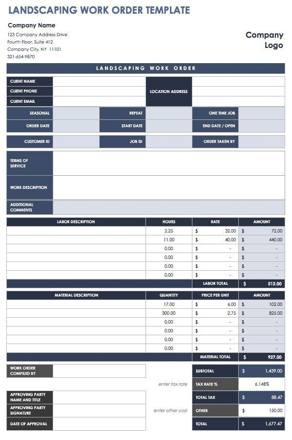 Pin by Chris Spectar on Work Order Forms Pinterest Order form - Free Online Spreadsheet Templates