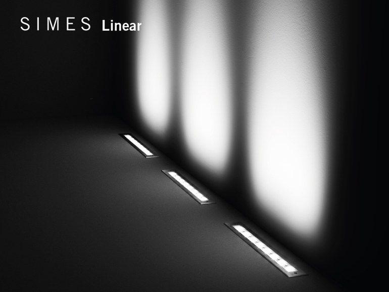 Illuminazione da incasso a led fluorescente con sistema rgb linear