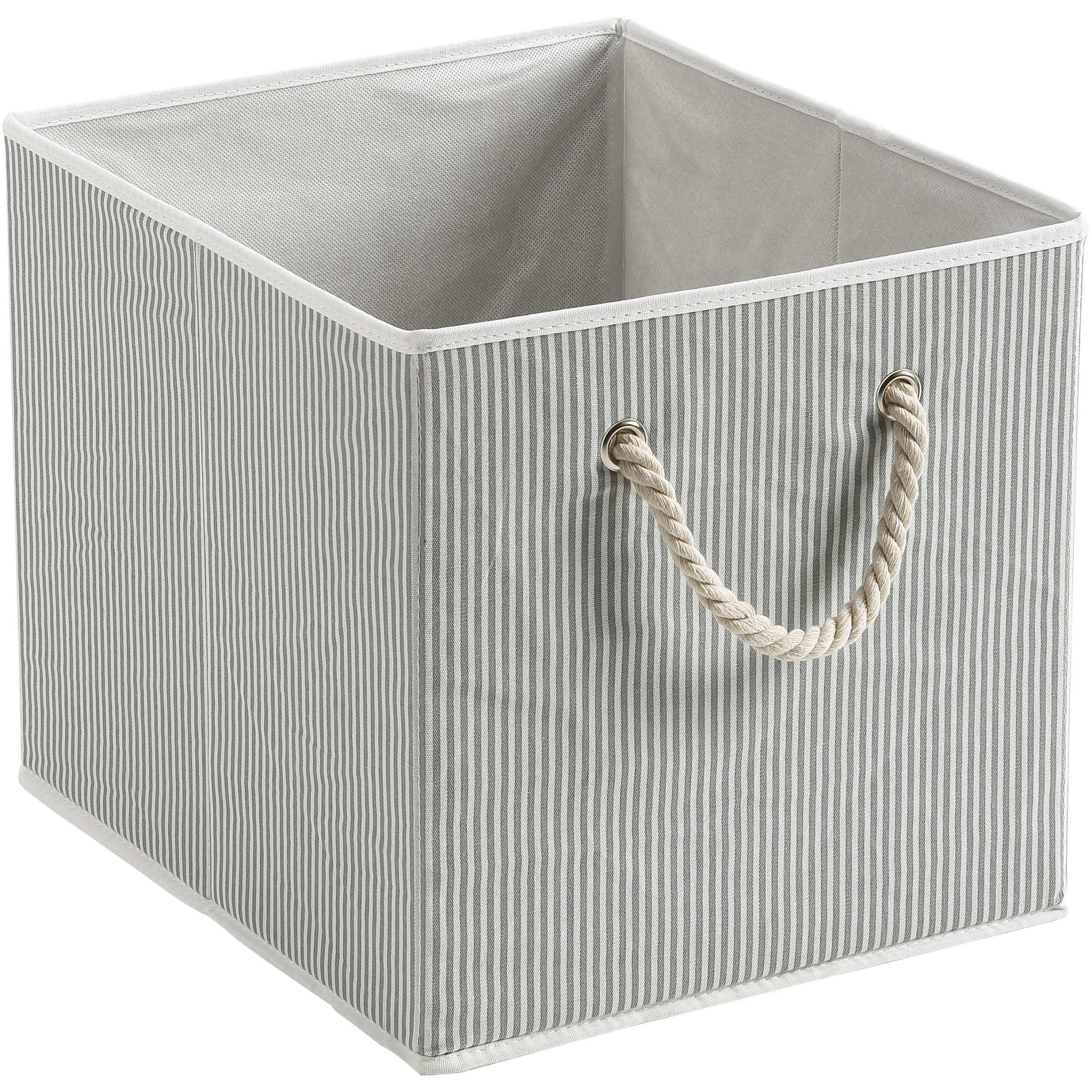 Better Homes And Gardens Fabric Cube Storage Bin With Rope Handle 12 75 X 12 75 Single Unit Walmart Com In 2020 Fabric Storage Bins Cube Storage Bins Cube Storage