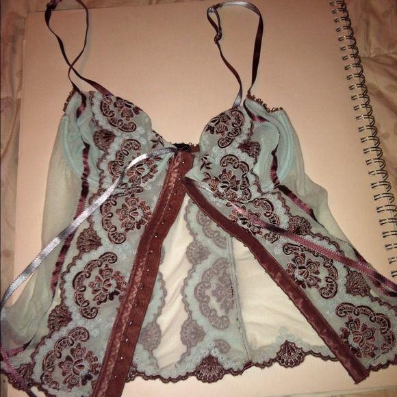 Selling this NWOT mint corset boned bustier lingerie on Poshmark! My username is: jonsey772. #shopmycloset #poshmark #fashion #shopping #style #forsale #Other