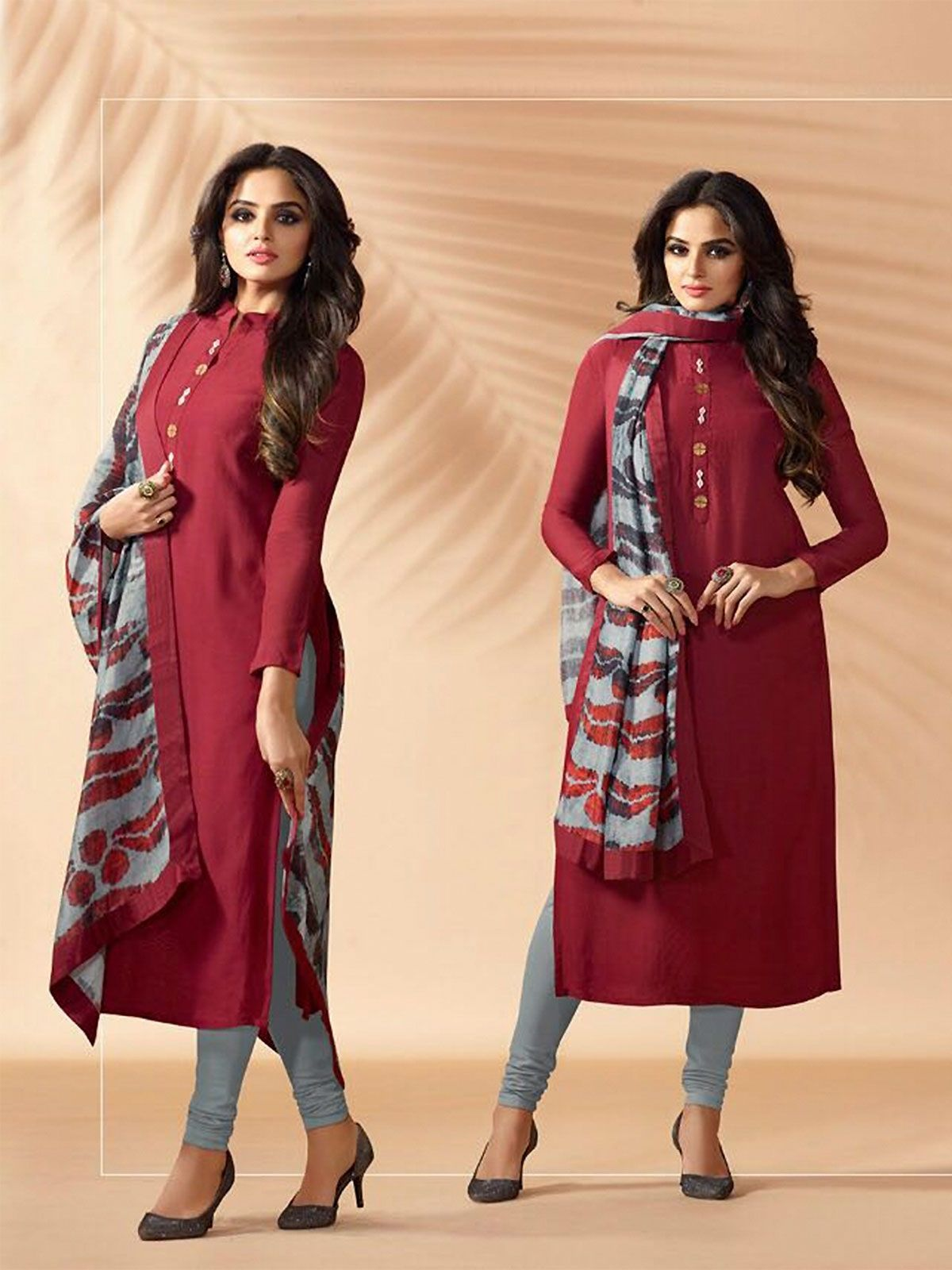 acf1a3fd1f6 Buy new arrivals indian wedding maroon churidar suit in different styles  and designs to make a powerful style statement. Order this stunning salwar  kameez ...