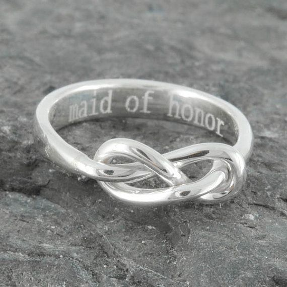Infinity Ring, Maid Of Honor Gift, Best Friend, Promise