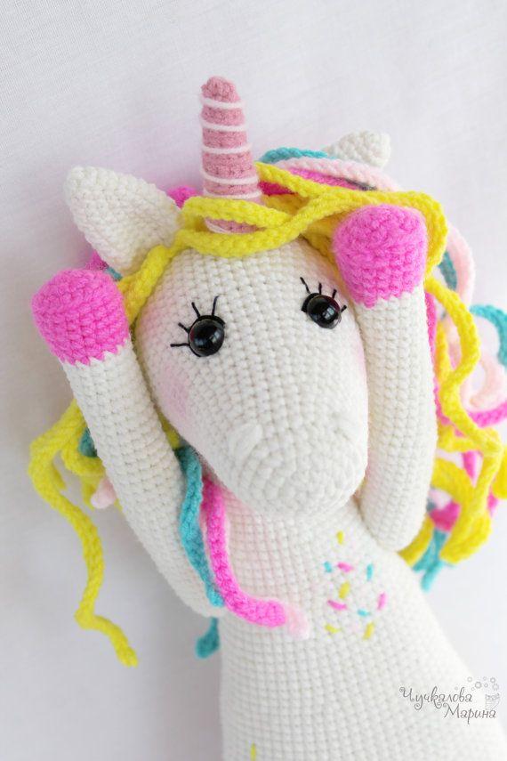 LAVENDER UNICORN Crochet Pattern Amigurumi PDF instant | Bichinhos ... | 855x570