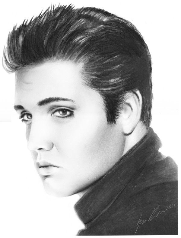 Elvis Presley Charcoal Drawing By Art SamiKahelin On DeviantART I Know