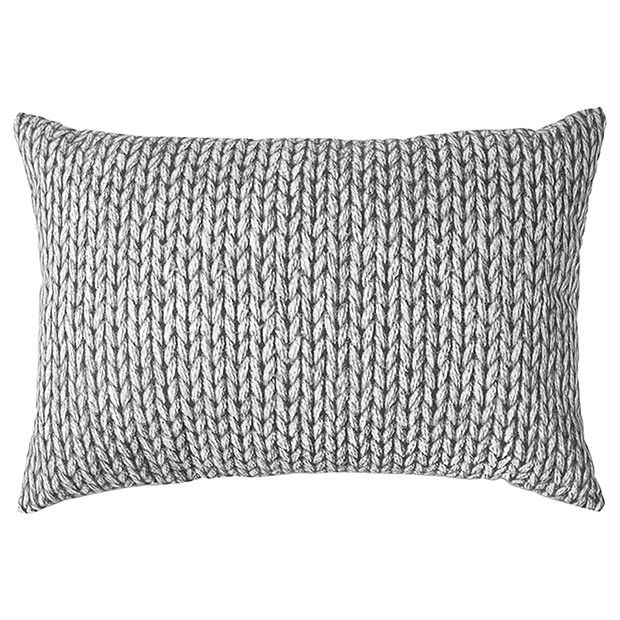 Knit Print Bed Cushion Grey Target Australia With Images Throw Pillows Bedroom