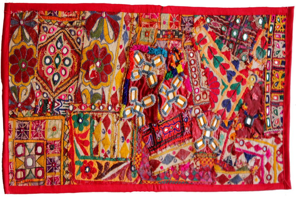 Indian 30 Vintage Embroidered Banjara Mirror Work Tapestry Wall Hanging Decor Tapestry Wall Hanging Wall Tapestry Wall Hanging