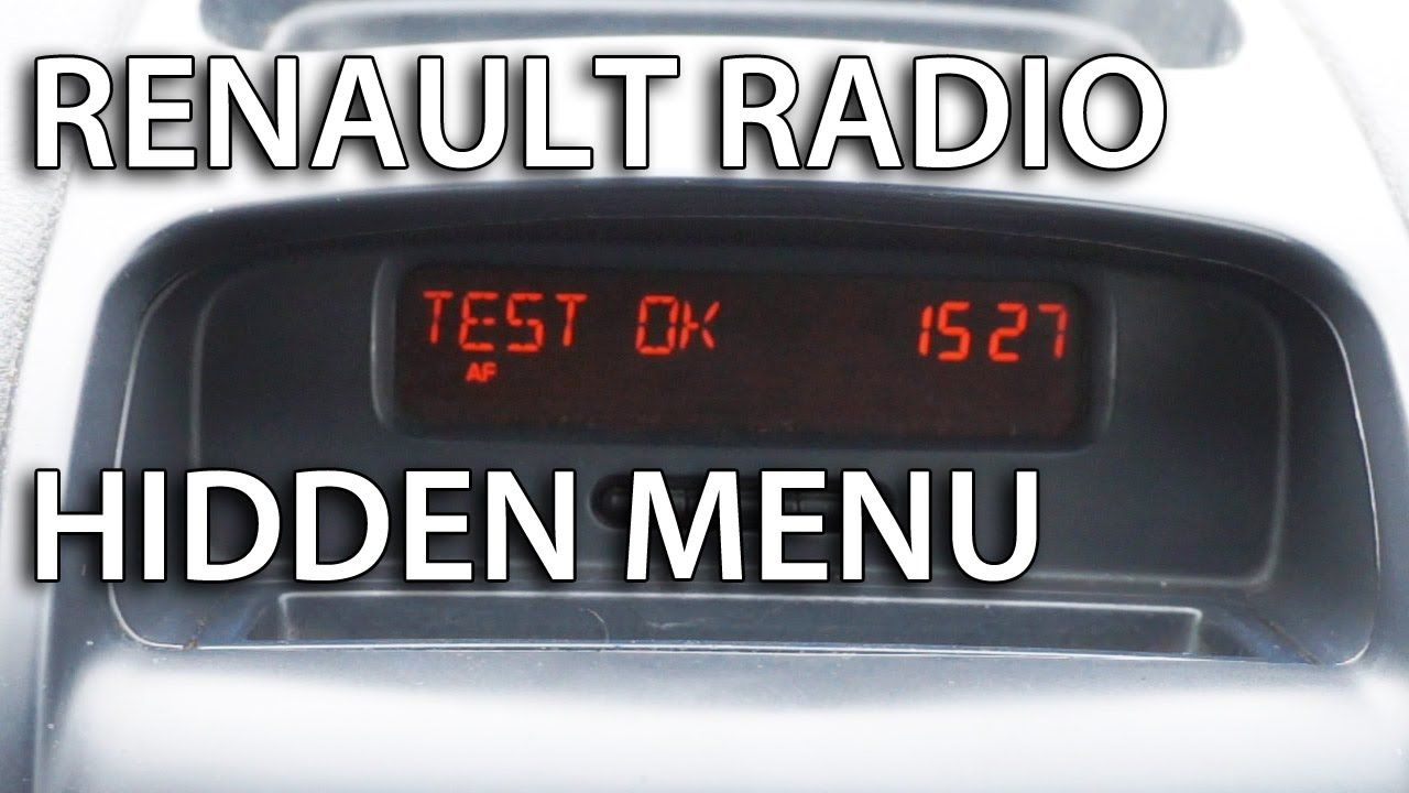 how to enter renault radio hidden menu and tests clio. Black Bedroom Furniture Sets. Home Design Ideas