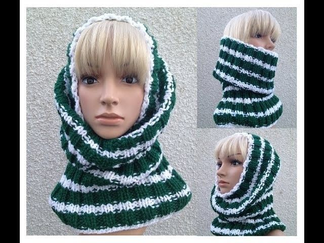 How to Knit a Cowl - Neck Warmer - Tube Hat Pattern #9 by ThePatterfamily
