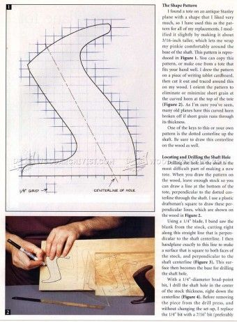 #558 Replacing a Hand Plane Tote - Hand Tools Tips and Techniques