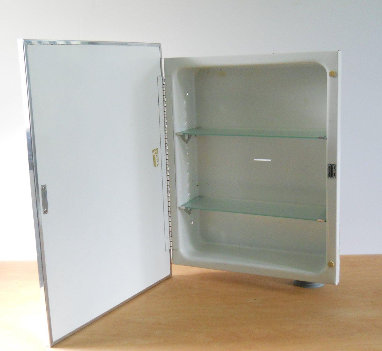 Vintage Metal Recessed Medicine Cabinet • F. W. Lawson Bathroom ...