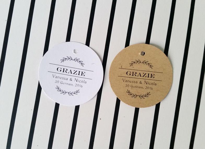 Célèbre Biglietti Bomboniere, Etichette Stile Rustico, Bigliettini  BZ64