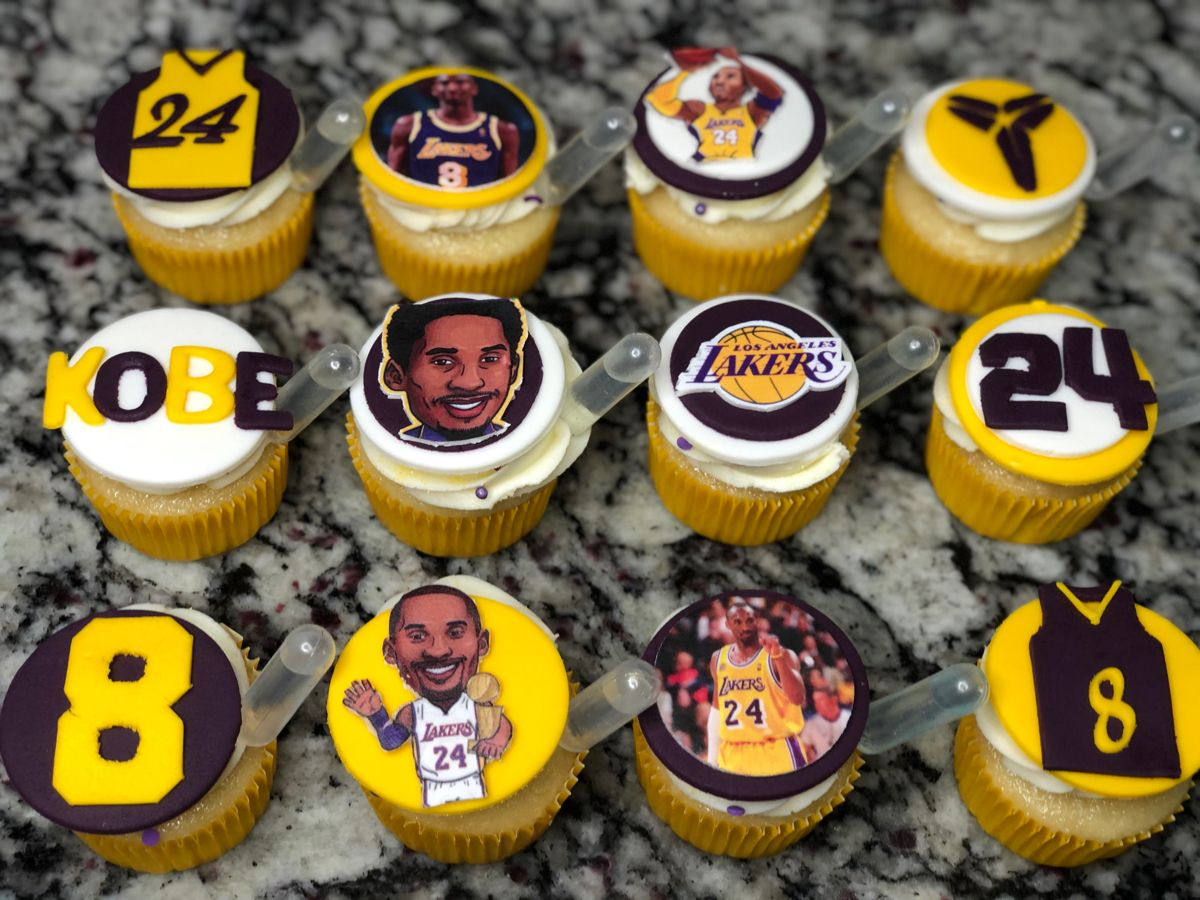 Custom Kobe Cupcakes in 2020 Kobe bryant birthday, Kobe