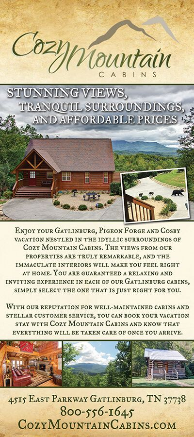 Cozy Mountain Cabins   Rentals In Gatlinburg, Pigeon Forge, U0026 Cosby, TN