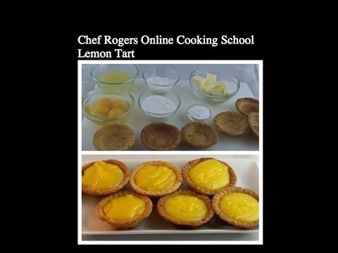 How to make Lemon Tart-Excellent Lemon Curd-Lemon Desert-Online Cooking School - YouTube