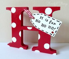 painted wood letters - Google Search