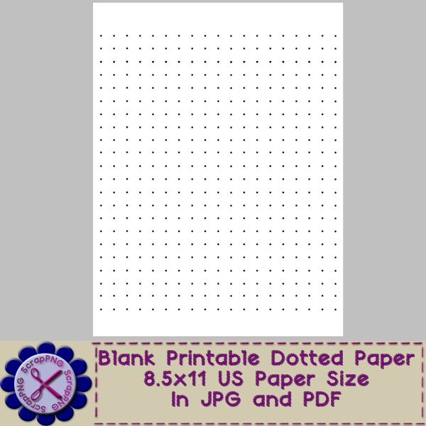 Dotted Paper Template - Printable JPG and PDF - Itu0027s Free - blank lined paper template