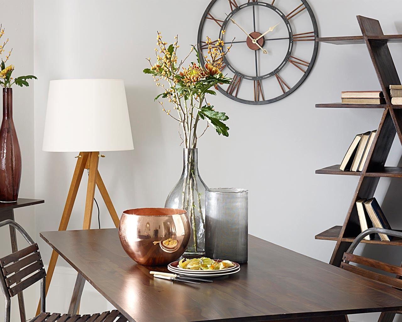 Large Metal Wall Clock | Large metal wall clock, Metal walls and ...