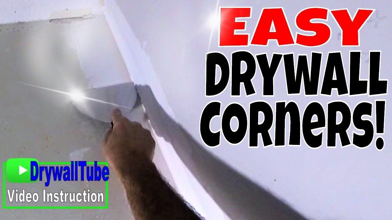 Easy way to tape an inside drywall corner after repairs