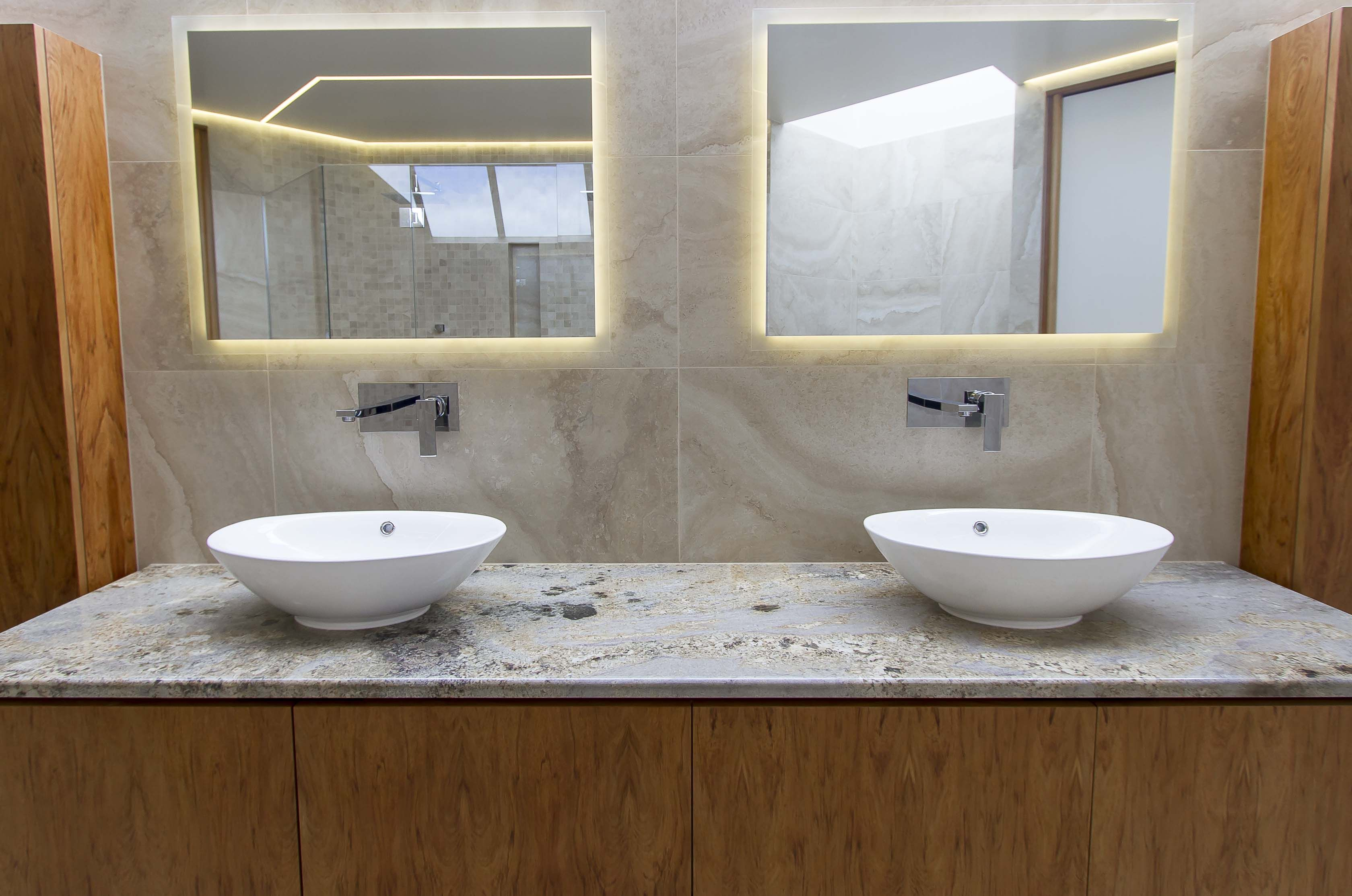 Bathroom Mirrors Lights Behind led strips used as back light behind mirror | led warehouse led