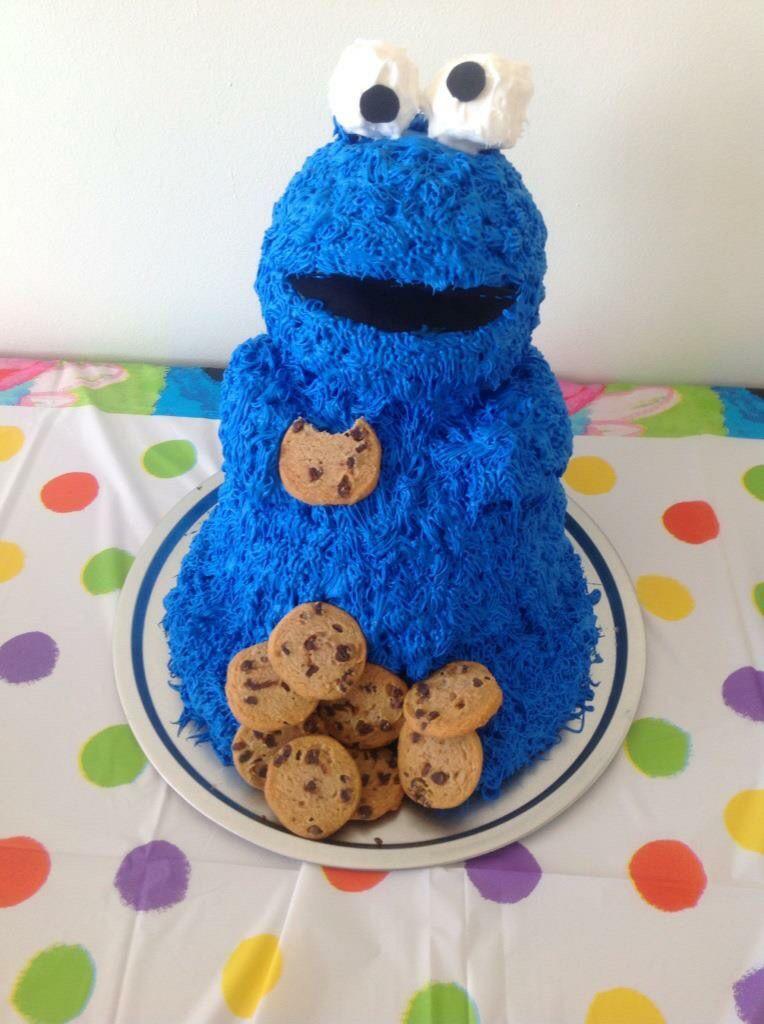 Cookie monster birthday cake monster cookies cake