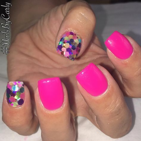 nails spring short hot pink 21 ideas in 2020  pink toe