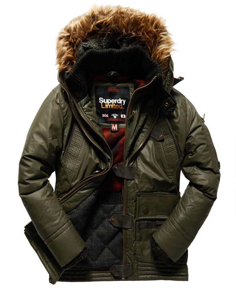 Superdry Duffle Coat Alpine Jackets Duffle Coat Mens Jackets [ 1000 x 820 Pixel ]