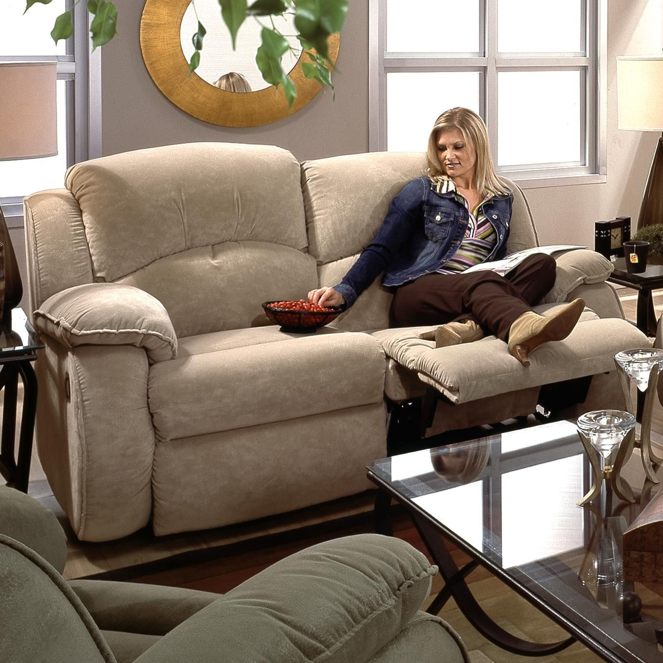 Cagney double reclining loveseat by southern motion idea for
