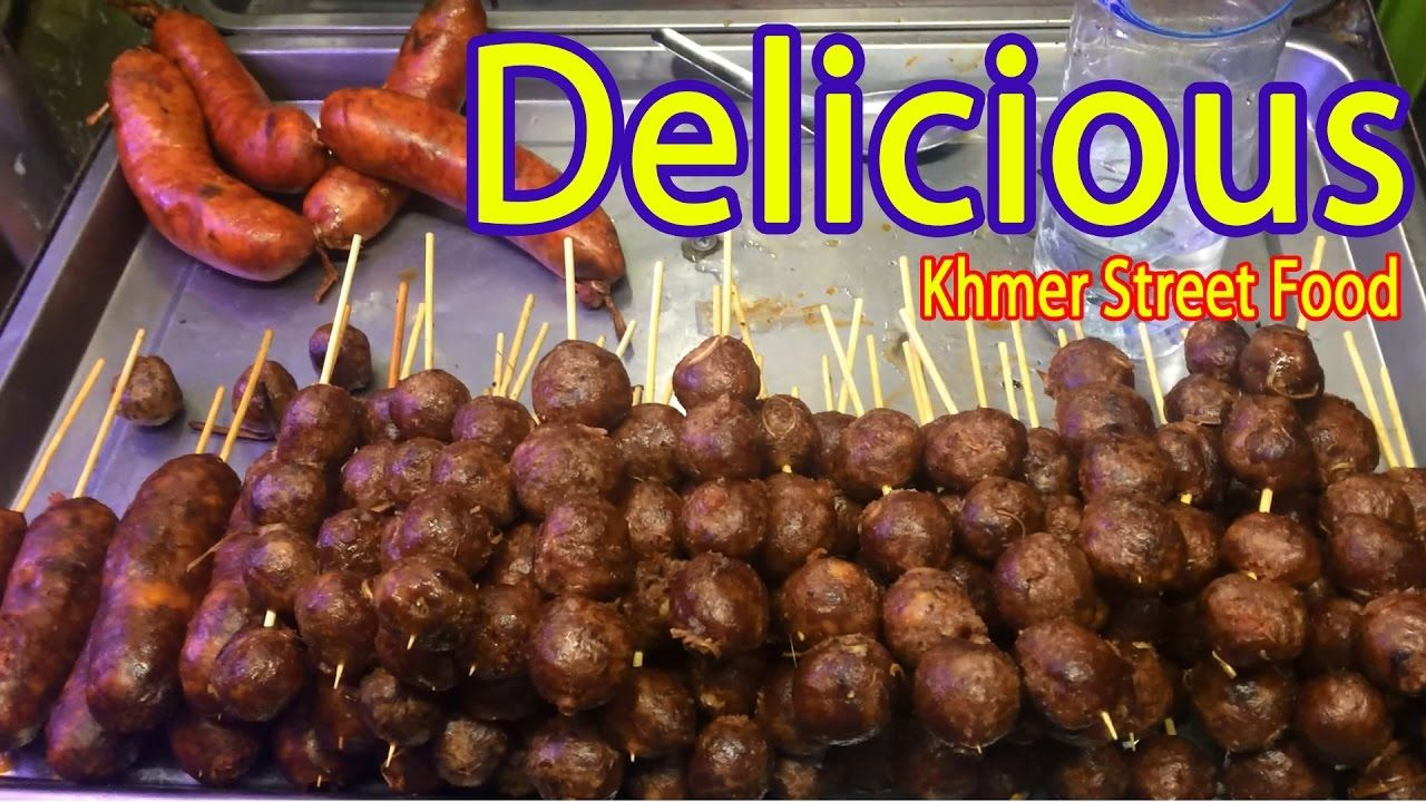 Asian Street Food | Cambodia Street Food - Grilled Pork, Frog, Fish, Bee...