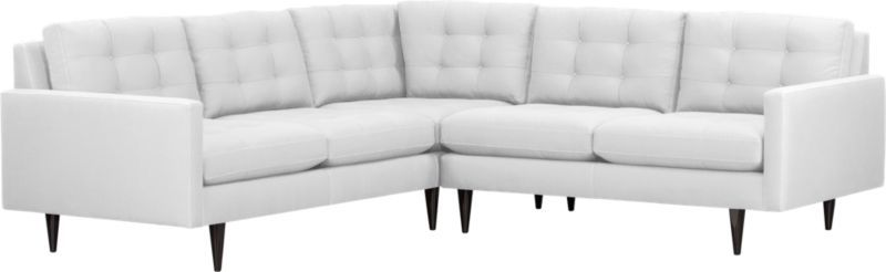 Swell Petrie 2 Piece Sectional Sofa Crate And Barrel 3500 Inzonedesignstudio Interior Chair Design Inzonedesignstudiocom