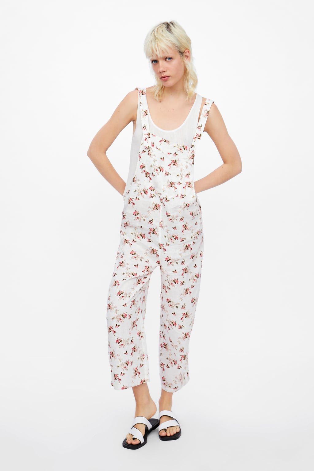 c4b4857c6dda Linen floral print jumpsuit in 2019 | fashion lust | Floral prints ...
