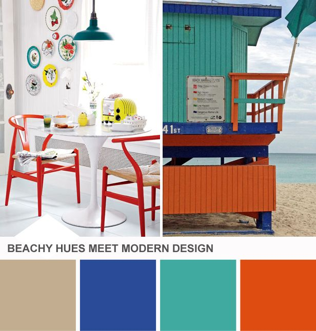 Modern Beach-Inspired Color Palette