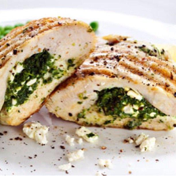pechugas de pollo rellenas de ricota y espinaca