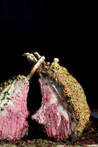 Rack of lamb via blow-torch