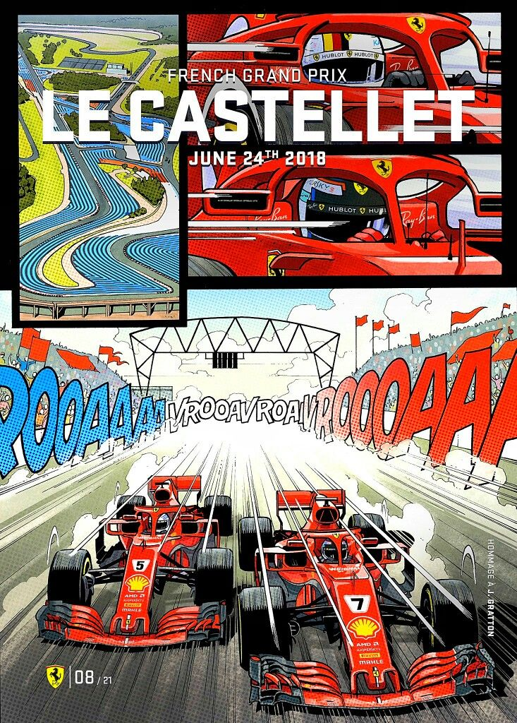 2018 French GP Ferrari's poster and cover art for the