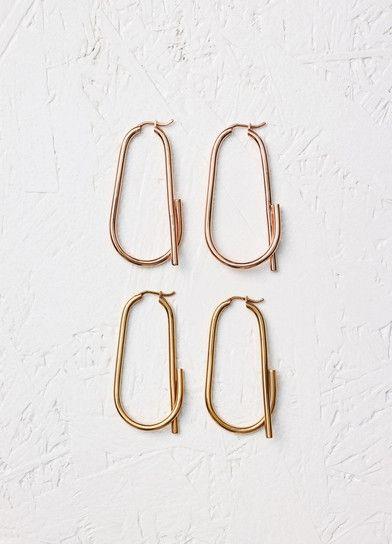 MINIMAL + CLASSIC @nordhaven Barbelé Hoop Earrings - Céline | jewels ...
